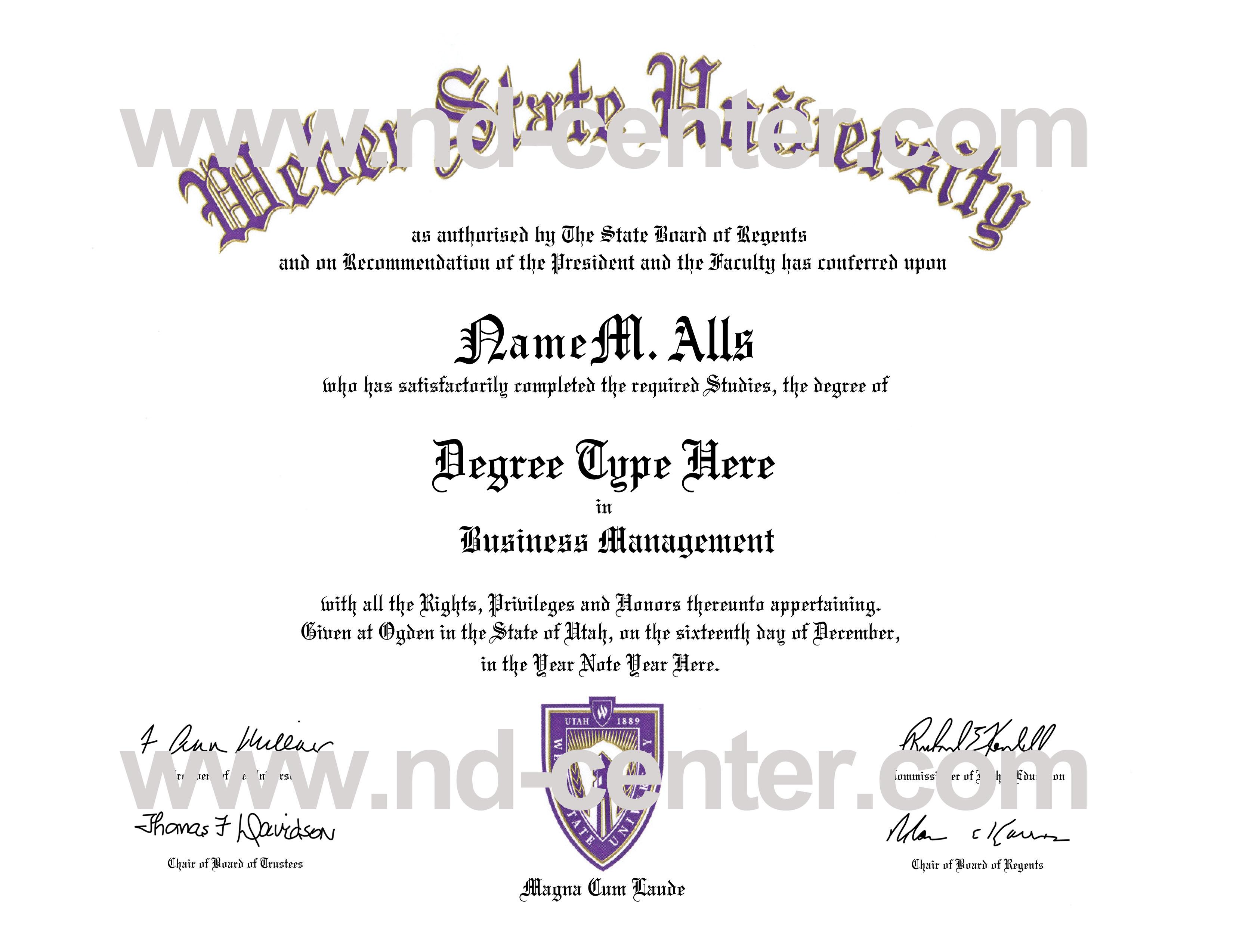 sample diplomas certificates