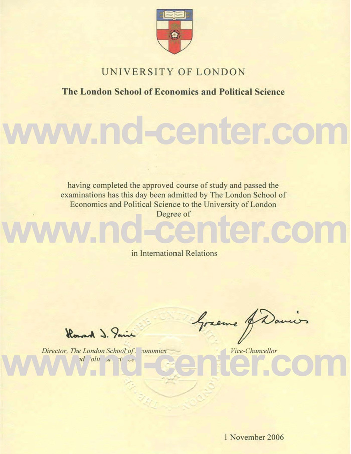London School of Economics Degree