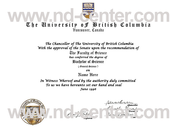 University of British Columbia Degree