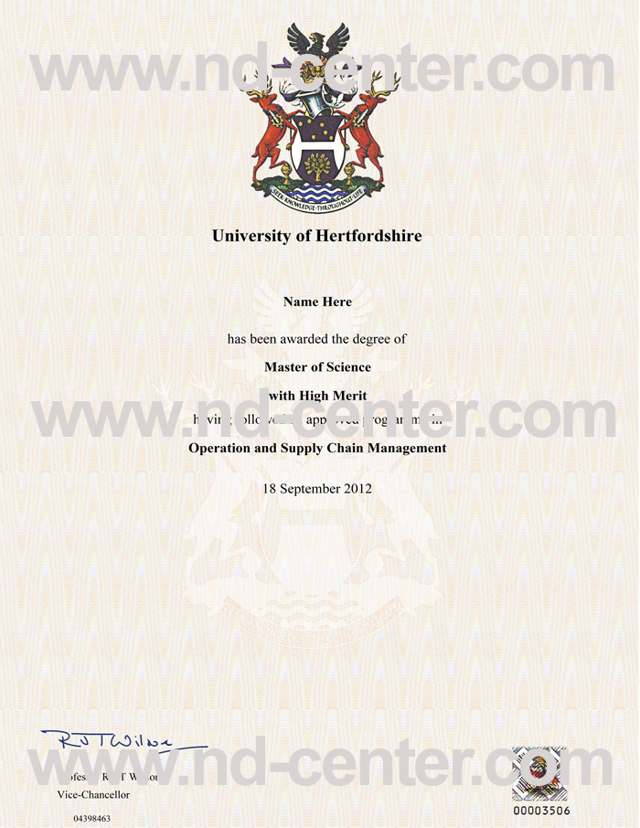 University of Hertfordshire Degree