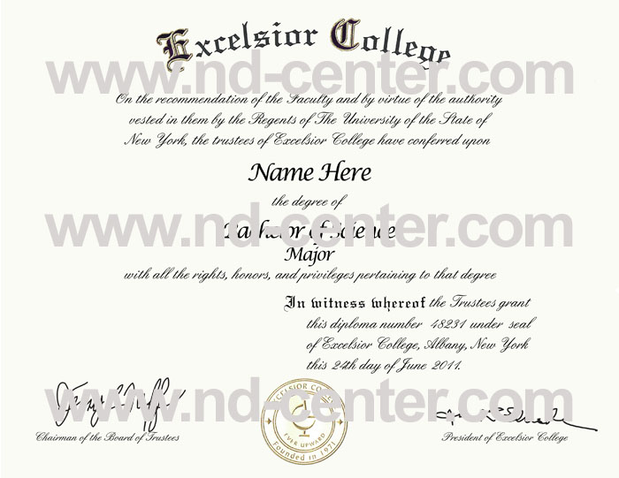 excelsior college diploma
