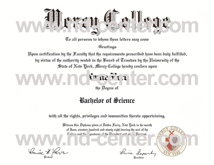 mercy college diploma