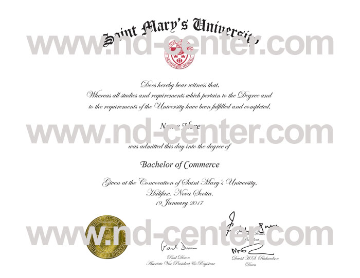 saint marys university diploma