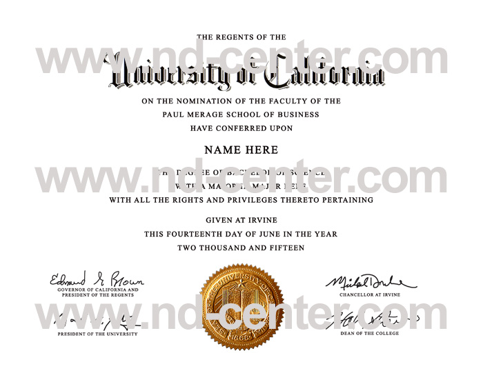 university of california irvine diploma