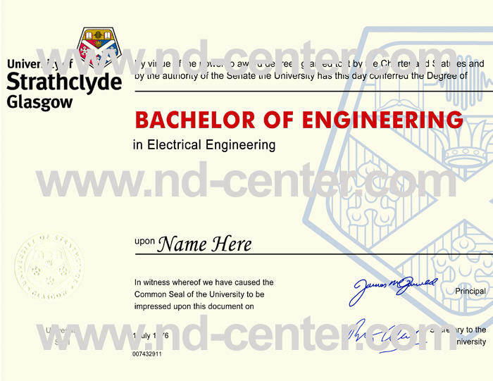 University of Strathclyde Diploma