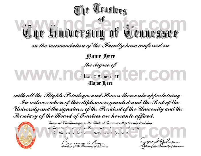 university of tennessee diploma
