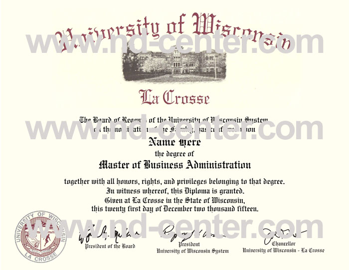 university of wisconsin la crosse diploma