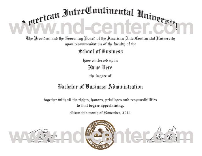 American InterContinental University Diploma