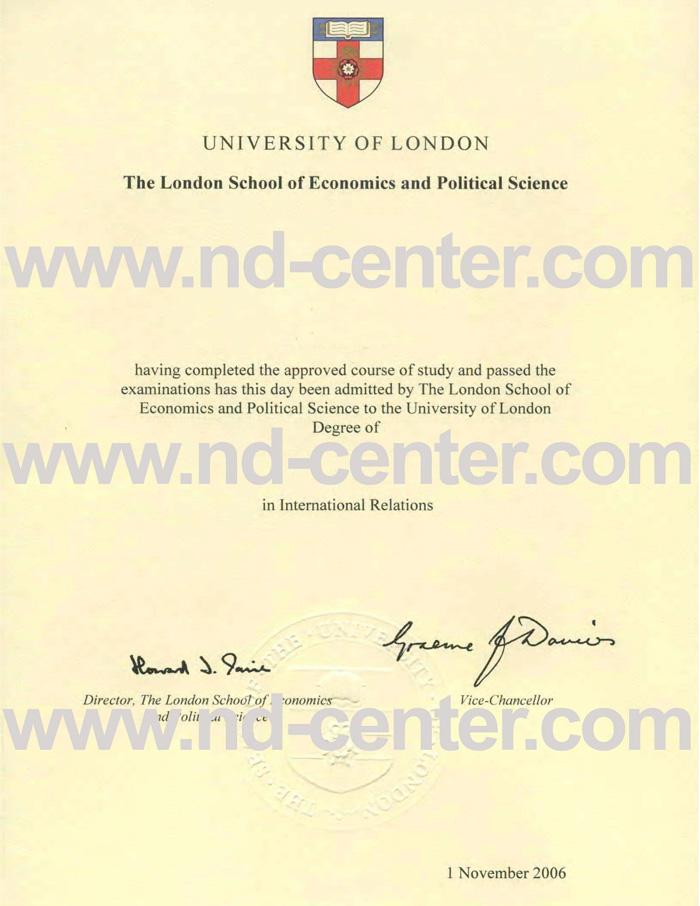 London School Of Economics Degree