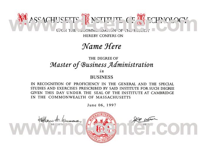 Massachusetts Institute Technology Diploma