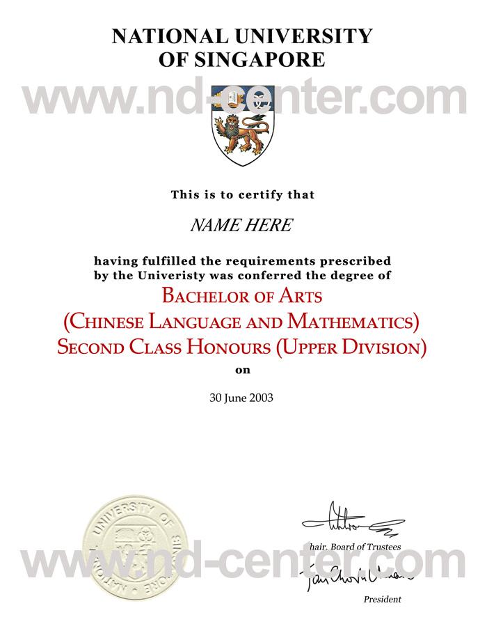 National University Of Singapore Diploma