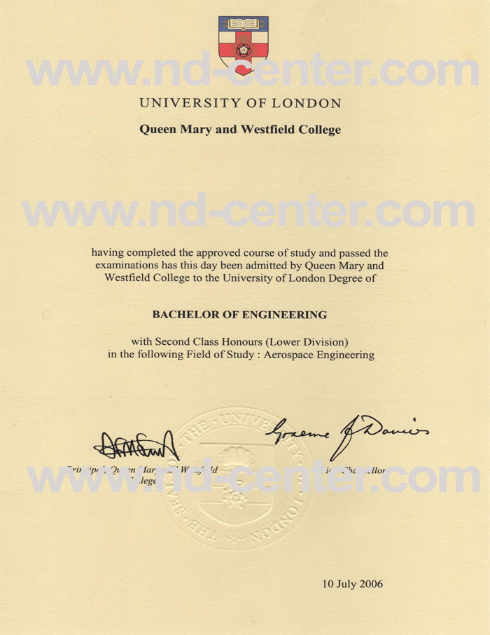 Queen Mary University Of London Degree