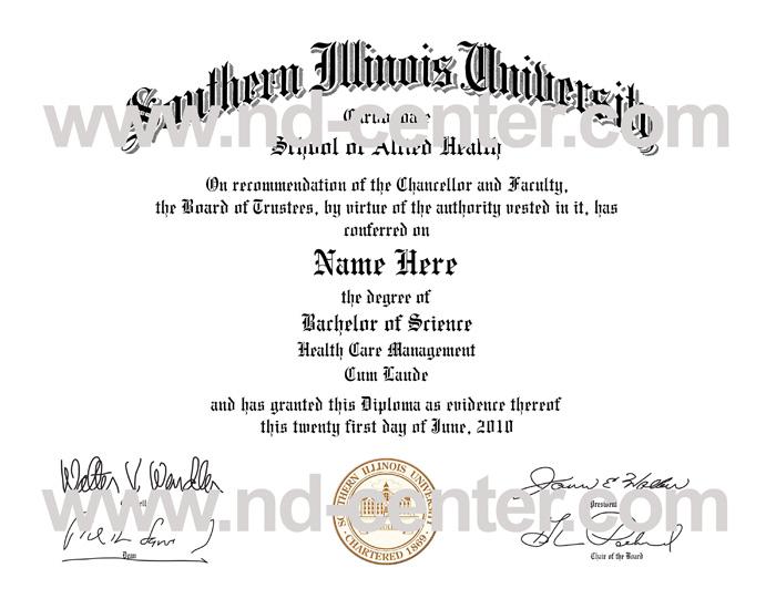 Southern Illinois University Diploma