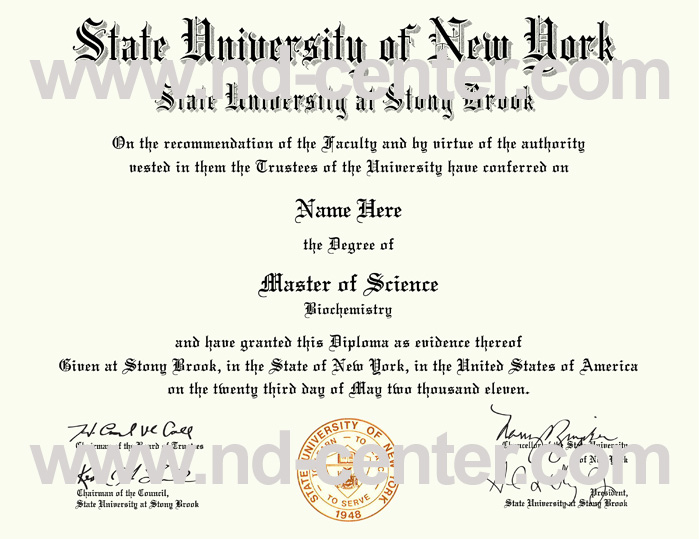 State University New York Stony Brook Diploma