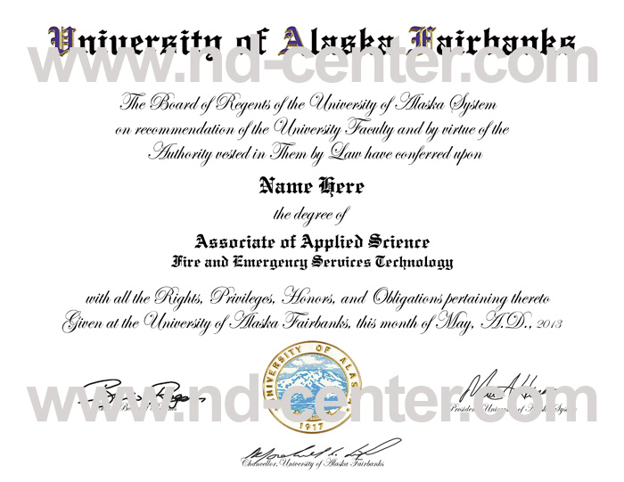 University Of Alaska Fairbanks Diploma