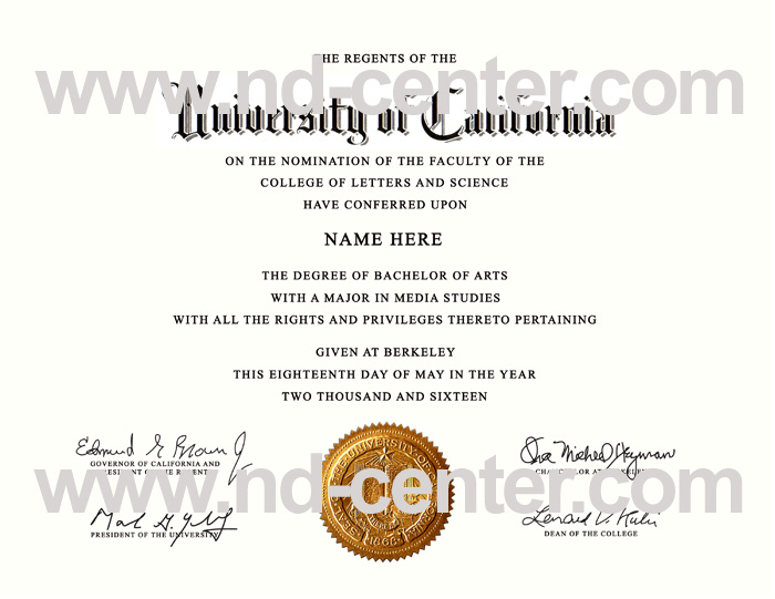 University Of California Berkeley Diploma