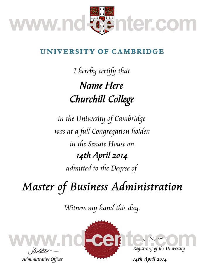 University Of Cambridge Degree
