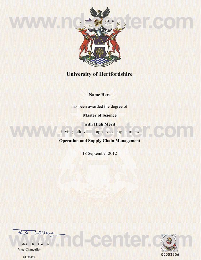 University Of Hertfordshire Degree
