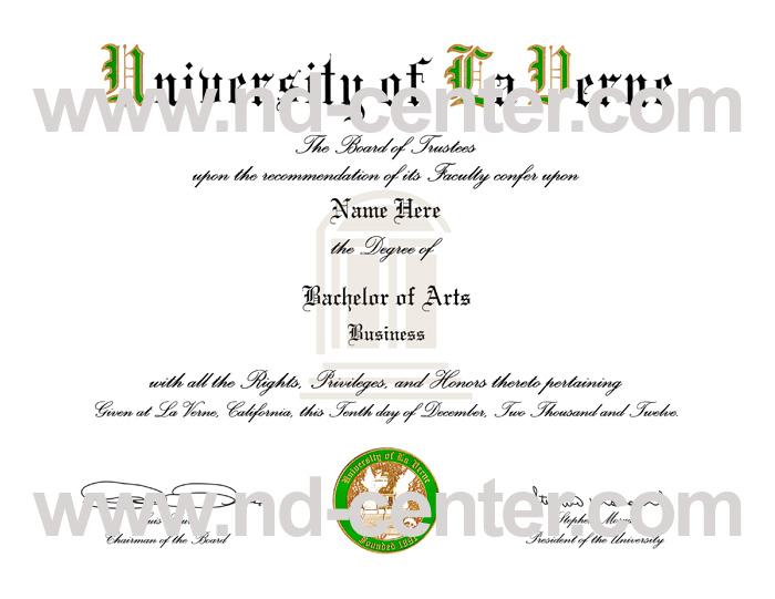 University Of La Verne Diploma