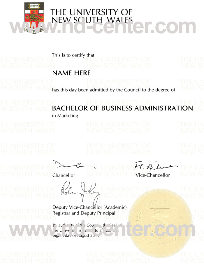 University Of New South Wales Degree