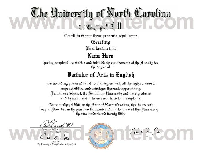 University Of North Carolina Chapel Hill Diploma