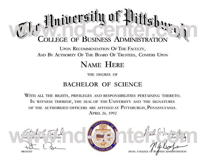 University Of Pittsburgh Diploma