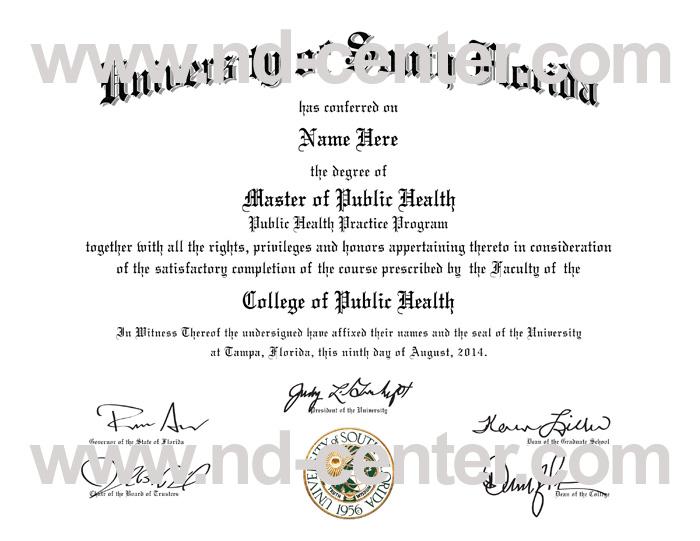 University Of South Florida Diploma