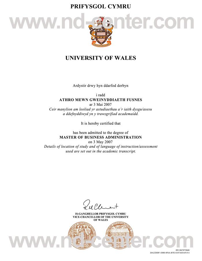 University Of Wales Degree