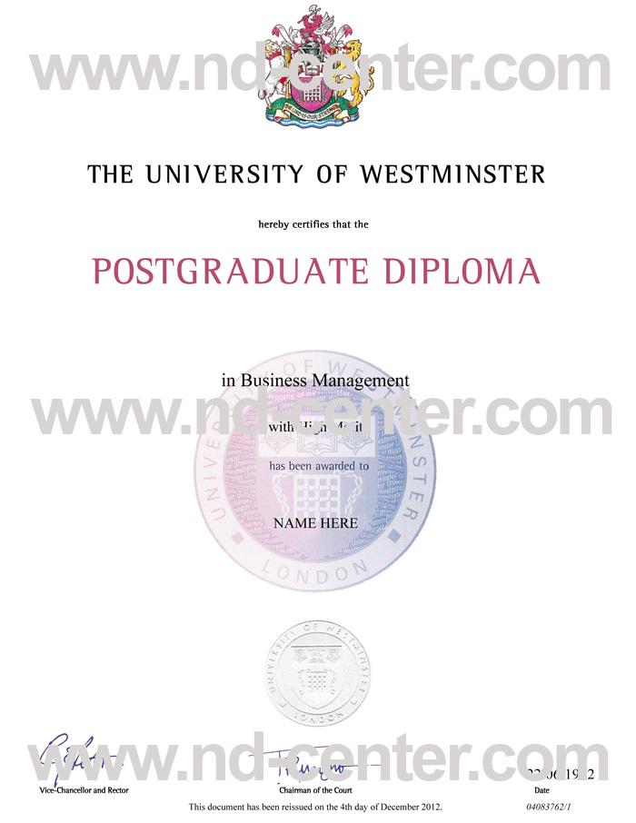 University Of Westminster Degree
