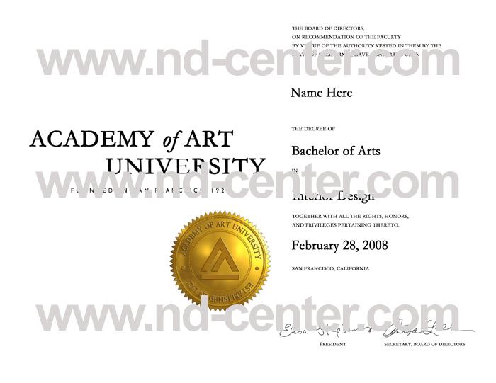 Academy Of art University Diploma