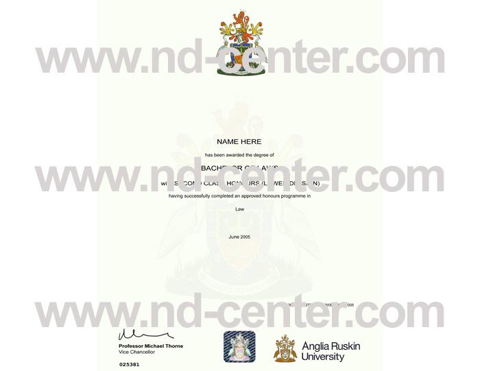Anglia Ruskin University Diploma