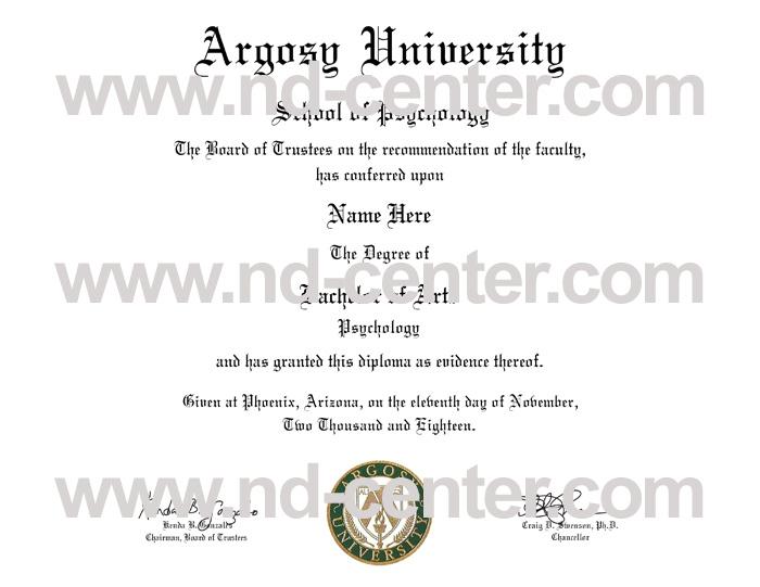 Argosy University Diploma