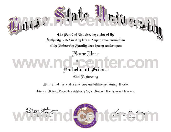 Boise State University Diploma