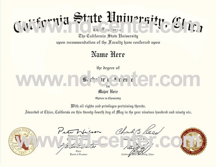 California State University Chico Diploma