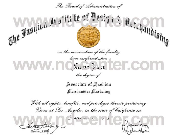 Fashion Institute Of design Merchandising Diploma