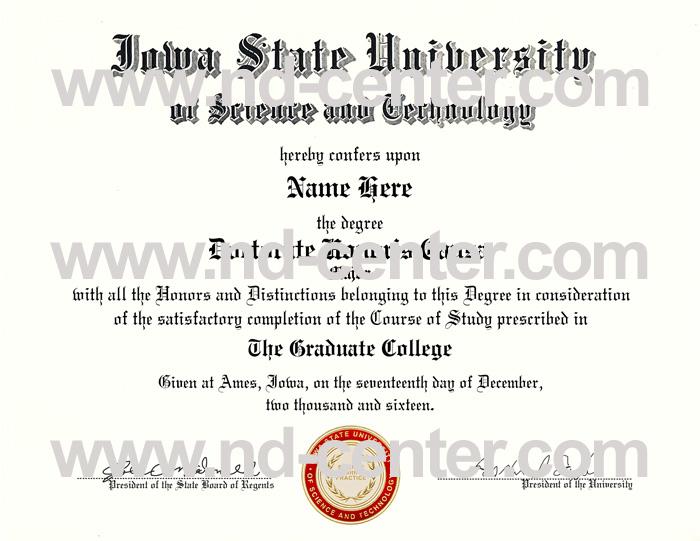Iowa State University Diploma