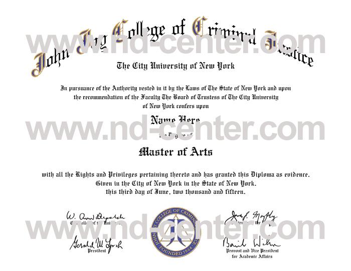 John Jay College Of criminal Justice Diploma