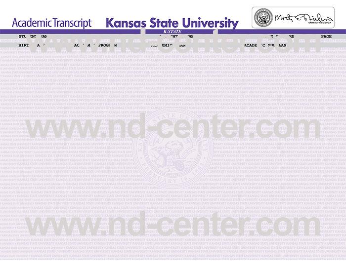 Kansas State University Transcript