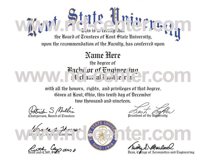 Kent State University Diploma