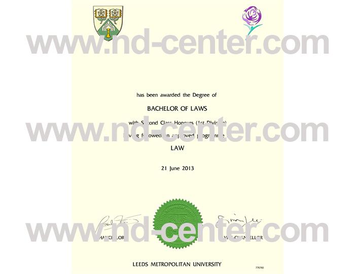 Leeds Metropolitan University Diploma