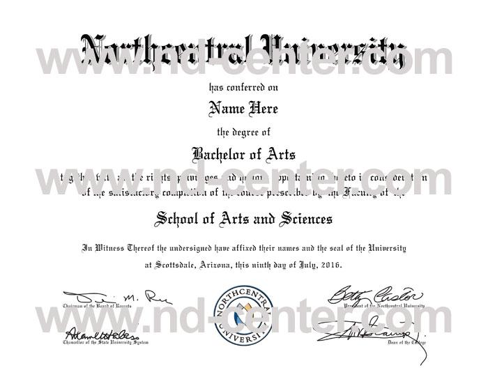 Northcentral University Diploma