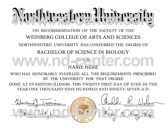 Northwestern University Diploma
