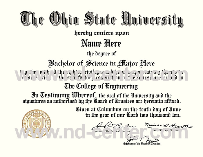 Ohio State University Diploma