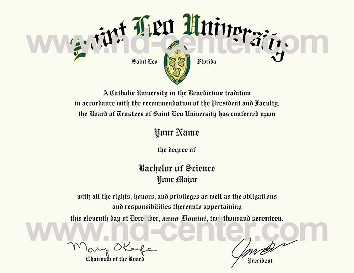 Saint Leo University Diploma