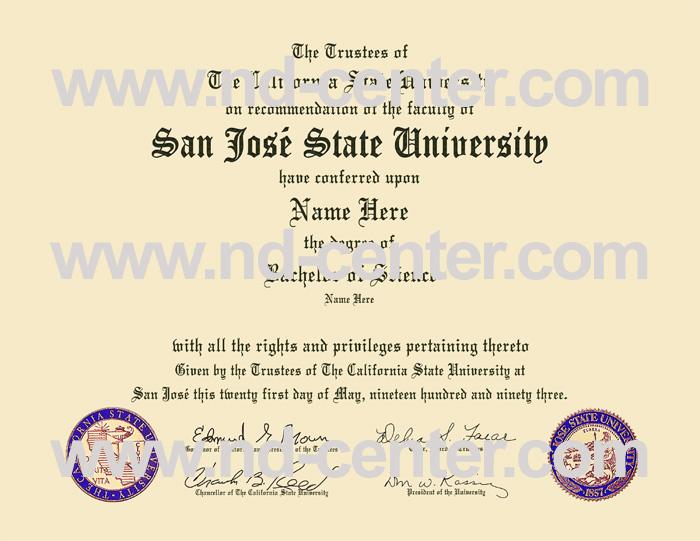 San Jose State University Diploma