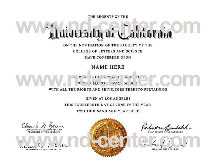 University Of california Los Angeles Diploma