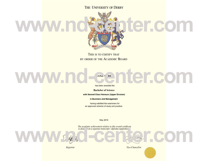 University Of Derby Diploma