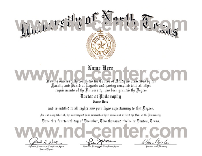 University Of north Texas Diploma