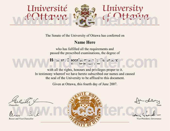 University Of Ottawa Diploma