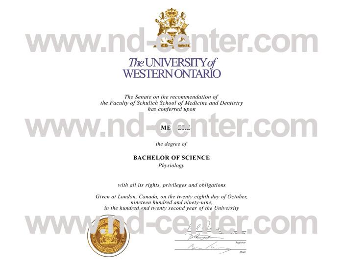 University Of western Ontario Diploma